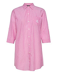 LRL ROLL TAB HIS SLEEPSHIRT - PINK STRIPE