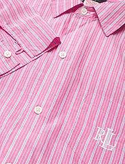 Lauren Ralph Lauren Homewear - LRL ROLL TAB HIS SLEEPSHIRT - natkjoler - pink stripe - 3