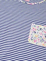 Lauren Ralph Lauren Homewear - LRL ROLL CUFF SLEEPTEE S/SL - natkjoler - blue stripe - 2