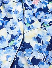 Lauren Ralph Lauren Homewear - LRL NOTCH COLLAR PJ SET 3/4 SL - pyjamas - blue floral - 2