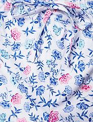 Lauren Ralph Lauren Homewear - LRL NOTCH COLLAR CAPRI PJ SET DOLMAN SL - pyjamas - white/blue - 5