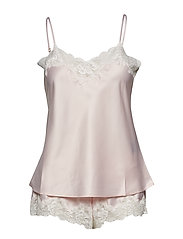 LRL SIGNATURE LACE CAMI TOP SET - PINK