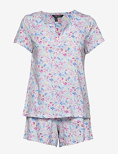 LRL SJORT SL. SPLIT NECKLINE BOXER PJ - pyjamas - multifloral