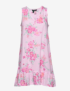 LRL SLEEVELESS GOWN - nightdresses - pink floral