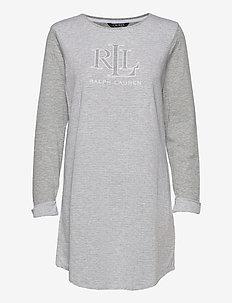 LRL SLEEPTEE LONG SL. - overdeler - grey htr stripe