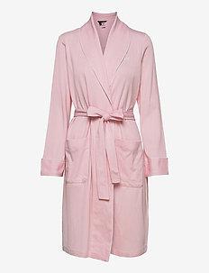 LRL SHORT SHAWL COLLAR ROBE - bathrobes - pink print