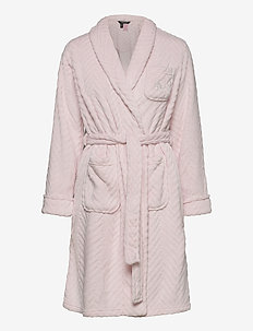 LRL SHORT SHAWL COLLAR SO SOFT ROBE - bathrobes - pink