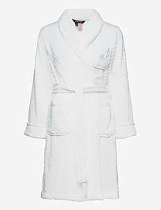 LRL SHORT SHAWL COLLAR SO SOFT ROBE - bedrok - white