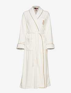 LRL LONG SHAWL COLLAR ROBE 131 CM - CREAM