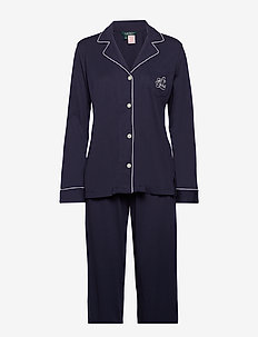 LRL HAMMOND KNIT COLLAR PJ SET - WINDSOR NAVY