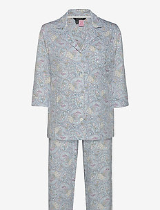 LRL 3/4 SL. NOTCH COLLAR PANT PJ SET - pyjamas - bluemulti