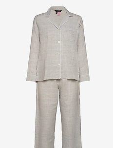LRL L/S NOTCH COLLAR LONG PANT PJ - pyjamas - grey plaid