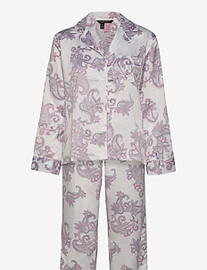 LRL L/S NOTCH COLLAR LONG PANT PJ - pyjamas - paisley print