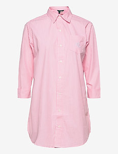 LRL HERITAGE ESS. 3/4 SL SLEEPSHIRT - overdeler - pink/white stripe