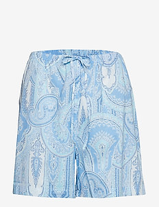 LRL NOTCH COLLAR BOXER PJ SET SHORT SL. - shortsit - blue print