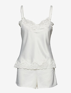 LRL SIGNATURE LACE CAMI TOP SET - pyjamas - ivory