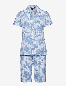 LRL NOTCH COLLAR BERMUDA PJ SET - BLUE PRINT