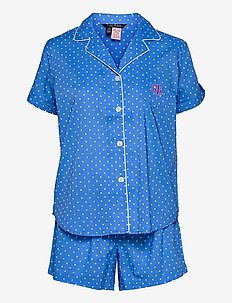 LRL NOTCH COLLAR PJ BOXER SET S/SL - pyjamas - blue dot