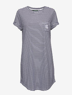 LRL SLEEPTEE SHORT SL. - NAVY STRIPE