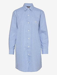 LRL  HIS SHIRT  SLEEPSHIRT - overdele - blue/white