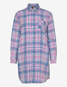 LRL  HIS SHIRT  SLEEPSHIRT - overdele - pink plaid