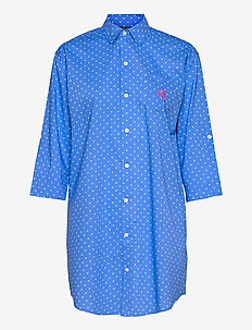 LRL ROLL TAB HIS SLEEPSHIRT - natkjoler - blue dot