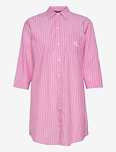 LRL ROLL TAB HIS SLEEPSHIRT - natkjoler - pink stripe