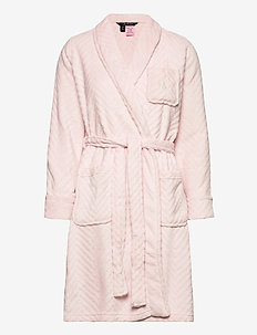 LRL ESSENTIAL SHORT SHAWL COLLAR ROBE - bedrok - pink