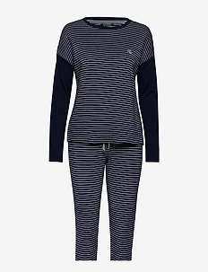 LRL LONG SL. TOP & JOGGER PANT SET - pyjamas - navy stripe