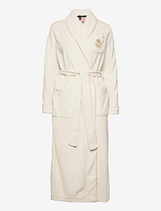 LRL DALTON FLEECE COLL.ROBE 131 CM FOLD. - bedrok - cream