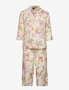 LRL POINTED NOTCH COLLAR CAPRI PJ SET - MULTI FLORAL