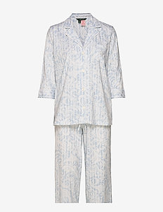 LRL NOTCH COLLAR 3/4 SL. PJ SET BLUE PRINT - BLUE PRINT