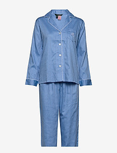 LRL POINTED NOTCH COLLAR PJ SET - BLUE DOT