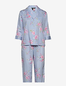 LRL POINTED NOTCH COLLAR PJ SET - BLUE/CHECK