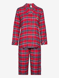 LRL NOTCH COLLARS PJ SET FOLDED - pyjama''s - red plaid