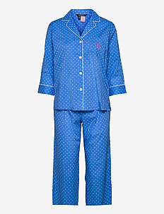 LRL NOTCH COLLAR PJ SET 3/4 SL - pyjamas - blue dot