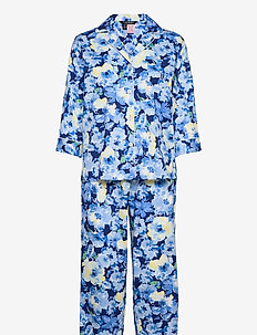 LRL NOTCH COLLAR PJ SET 3/4 SL - pyjama''s - blue floral