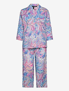 LRL NOTCH COLLAR PJ SET 3/4 SL - pyjamas - multi paisley