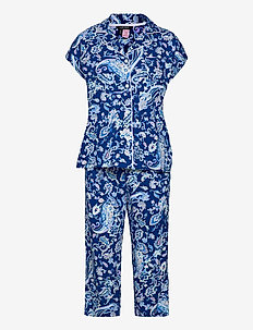 LRL NOTCH COLLAR CAPRI PJ SET DOLMAN SL - pyjamas - blue paisley