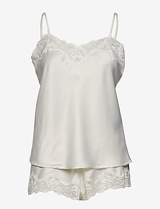 LRL SIGNATURE LACE CAMI TOP SET - IVORY