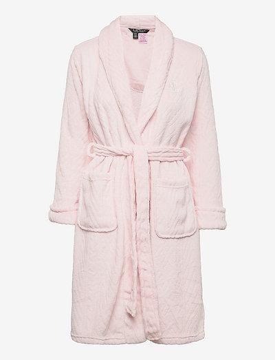 LRL SHAWL COLLAR ROBE 100CM PINK - halāti - pink