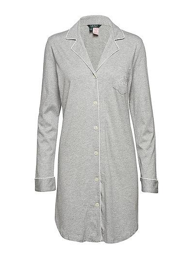 RALPH LAUREN Lrl Hammond Knit Collar Sleepshirt Nachthemd Grau LAUREN RALPH LAUREN HOMEWEAR
