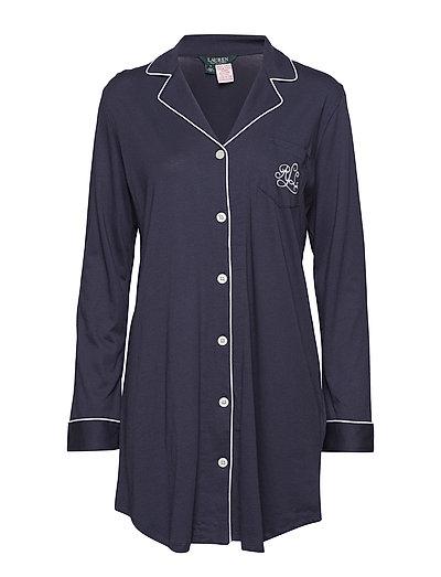 RALPH LAUREN Lrl Hammond Knit Collar Sleepshirt Nachthemd Blau LAUREN RALPH LAUREN HOMEWEAR