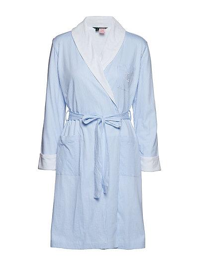 Lrl Essential Short Shawl Collar Robe Bademantel Blau LAUREN RALPH LAUREN HOMEWEAR