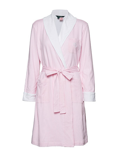 Lrl Essential Short Shawl Collar Robe Bademantel Pink LAUREN RALPH LAUREN HOMEWEAR
