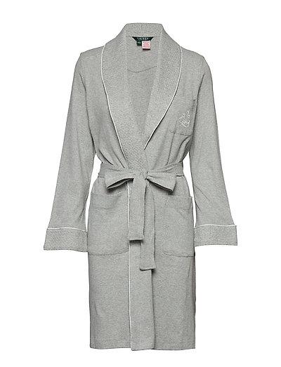 Lrl Essential Quilted Collar Robe Bademantel Grau LAUREN RALPH LAUREN HOMEWEAR