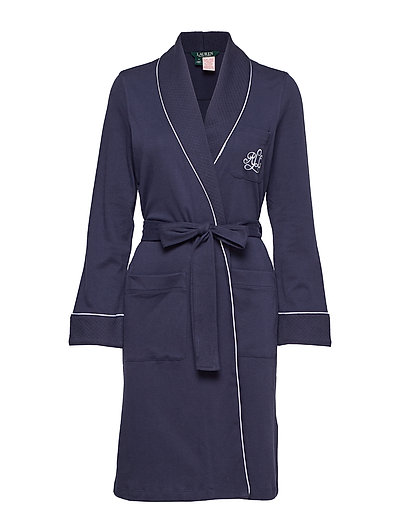 Lrl Essential Quilted Collar Robe Bademantel Blau LAUREN RALPH LAUREN HOMEWEAR