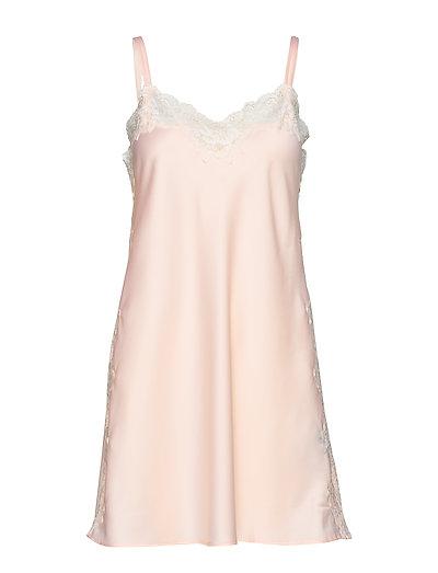 Lrl Signature Lace Chemise Nachthemd Pink LAUREN RALPH LAUREN HOMEWEAR