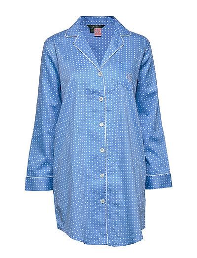 Lrl Pointed Notch Collar His Sleepshirt Nachthemd Creme LAUREN RALPH LAUREN HOMEWEAR