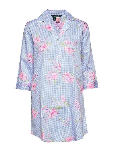 Lrl Pointed Notch Collar Sleepshirt Nachthemd Schwarz LAUREN RALPH LAUREN HOMEWEAR